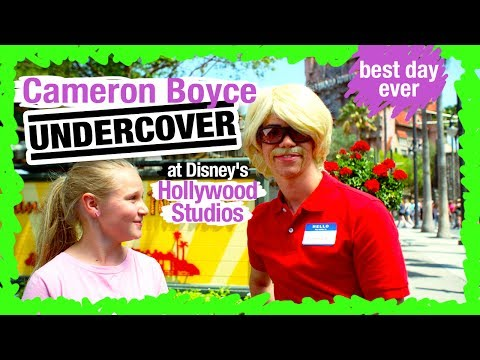 Cameron Boyce Undercover at Disney's Hollywood Studios  WDW Best Day Ever