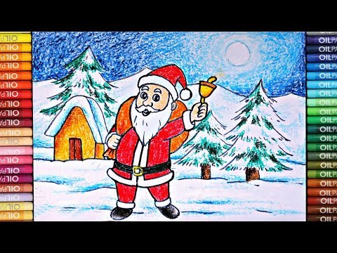 Christmas Day Drawing Images.Easy Santa Claus Drawing Christmas Day Drawing Anup