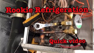 HVAC Refrigeration:  Setting superheat On a Walk In Freezer On a Rack System