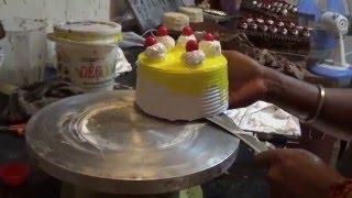 Beautiful Cherry Topped Fresh Cream Cake...