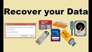 how to recover data from hard disk pendrive or memory card which is not detecting or corrupt