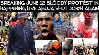 BREAKING! NIGERIA WORRIÒRS HAVE SHUTDÒWN ASO-ROCK IN ABUJA  WITH JUNE 12 PROTEST HAPPENING LIVE