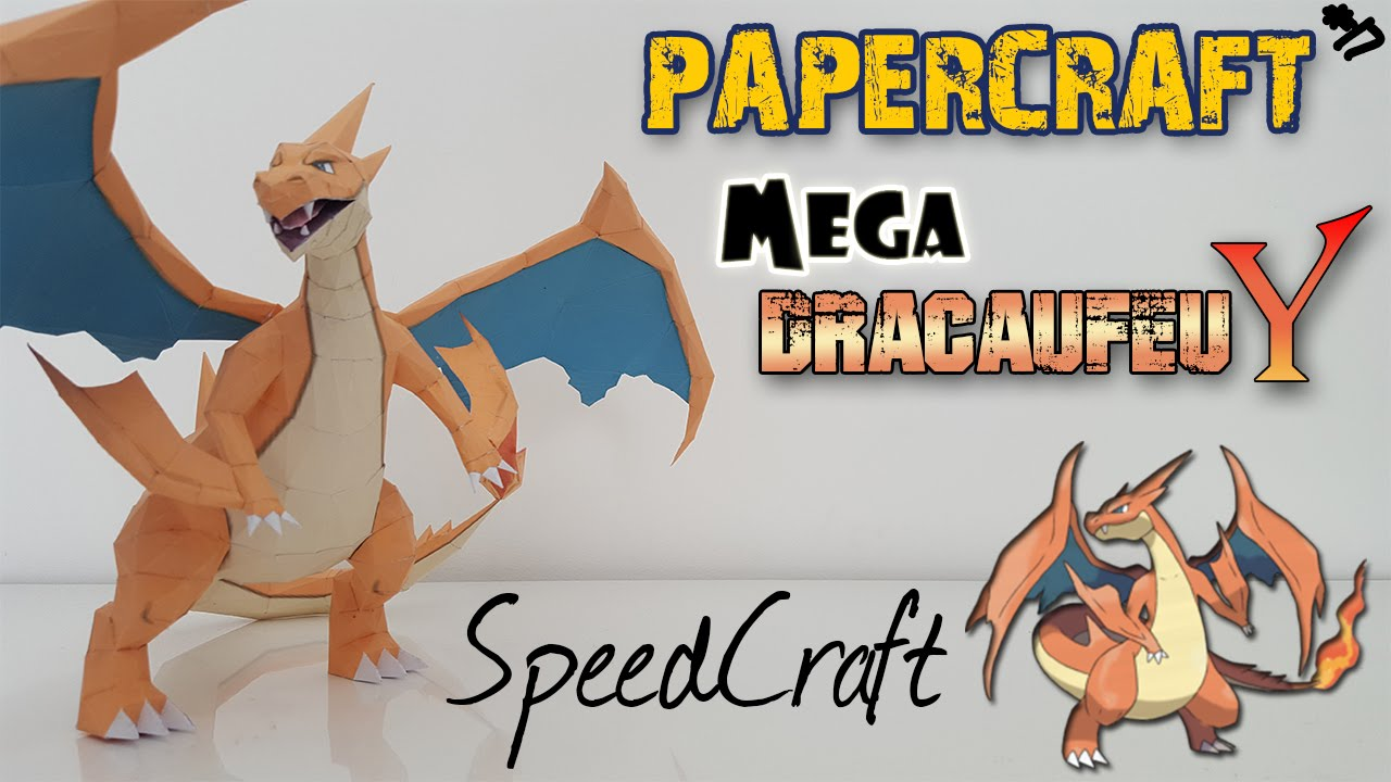 Papercraft Mega Charizard Y Speedcraft