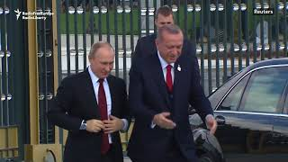 Erdogan Welcomes Putin On Ankara Visit