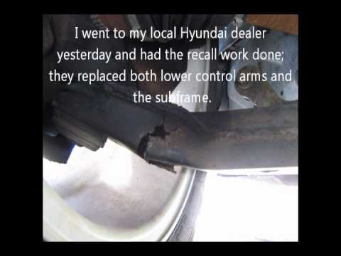 Hyundai Control Arm Corrosion And Perforation Wmv Part Ii Wmv Youtube