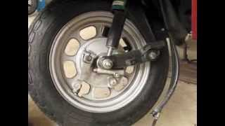 Honda Elite CH80 How to Replace the Front Tire