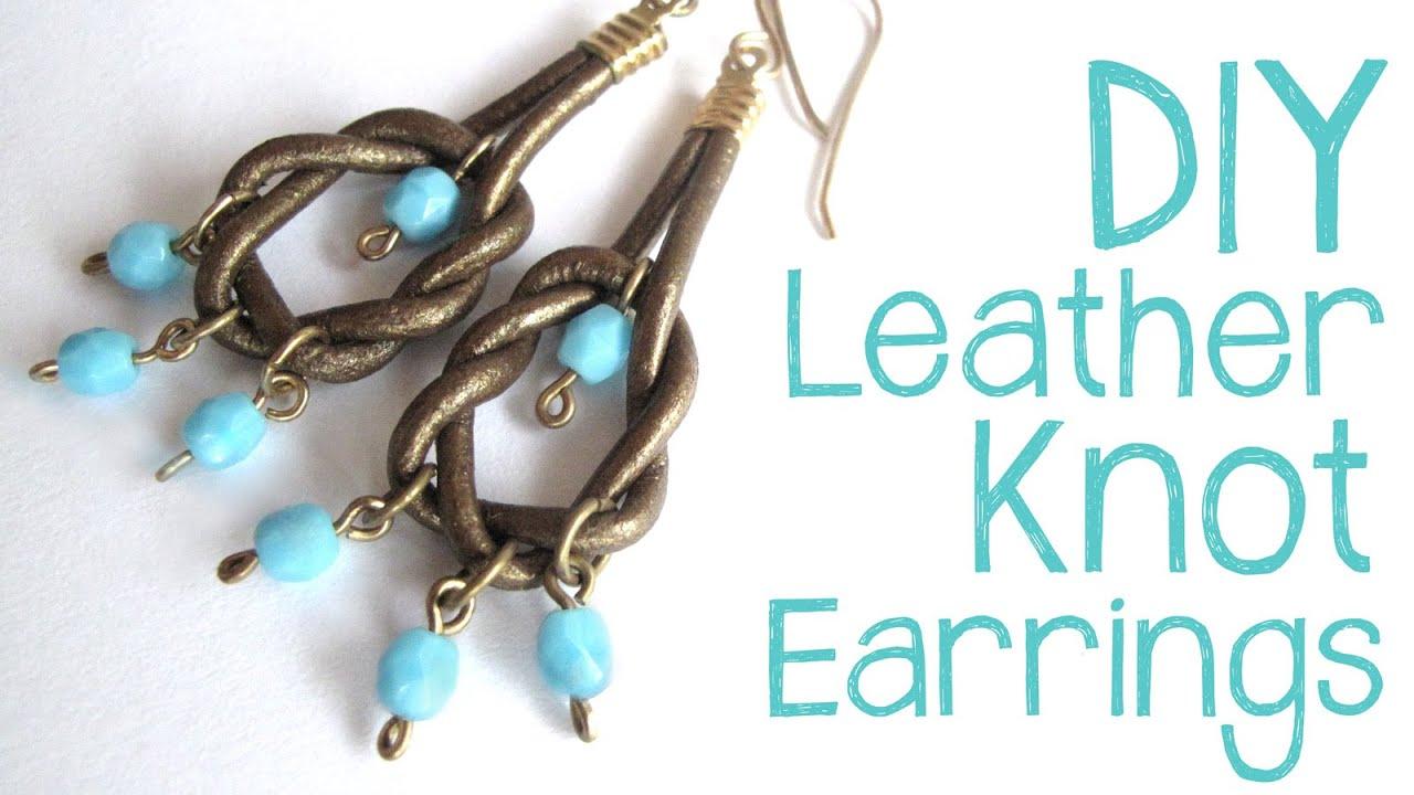 DIY Leather Knot Earrings - Easy Leather Earring Tutorial - YouTube