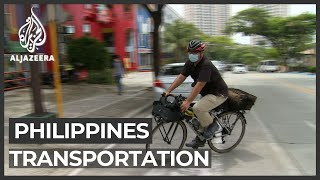 Philippines workers resort to bicycles amid lockdown