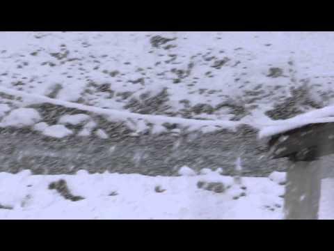Amazing Snow fall in Kalam SWAT Valley 12 March 2016 KPK Pakistan