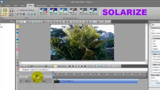 How to add solarize effects in my video with VSDC Free Video Editor