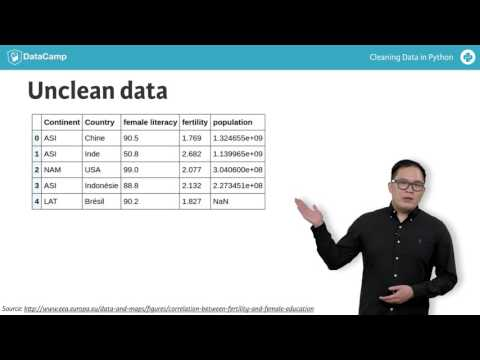 New Python Tutorial: Diagnose data for cleaning