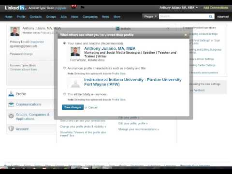 How to remain anonymous when viewing someone else's LinkedIn profile.