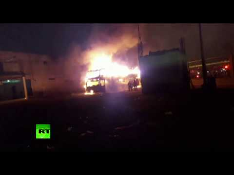 Deadly inferno engulfs bus in Peru with people trapped on second deck