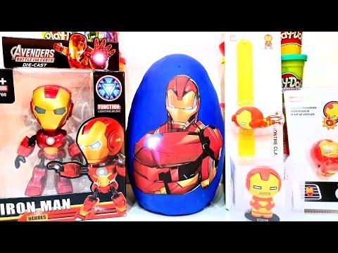 Gigante Iron Man Avengers Superhero  Plastilina Play Doh Surprise Egg Robot New