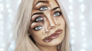 TRIPPY TRIPLE VISION HALLOWEEN MAKEUP TUTORIAL