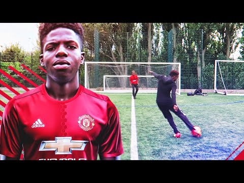 ONE TOUCH ONE SHOT CHALLENGE WITH POGBA'S BROTHER!
