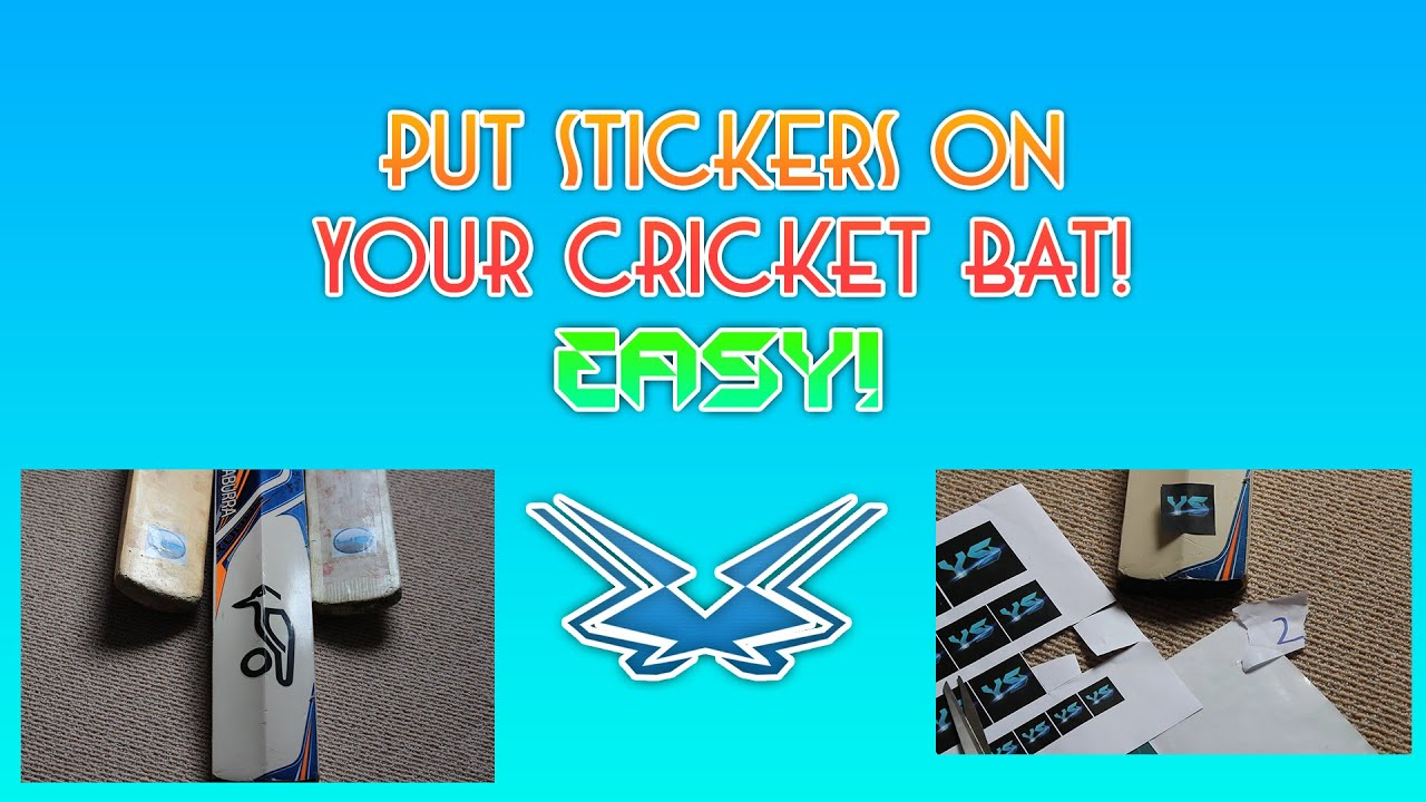 Re brand your cricket bat with custom stickers easy