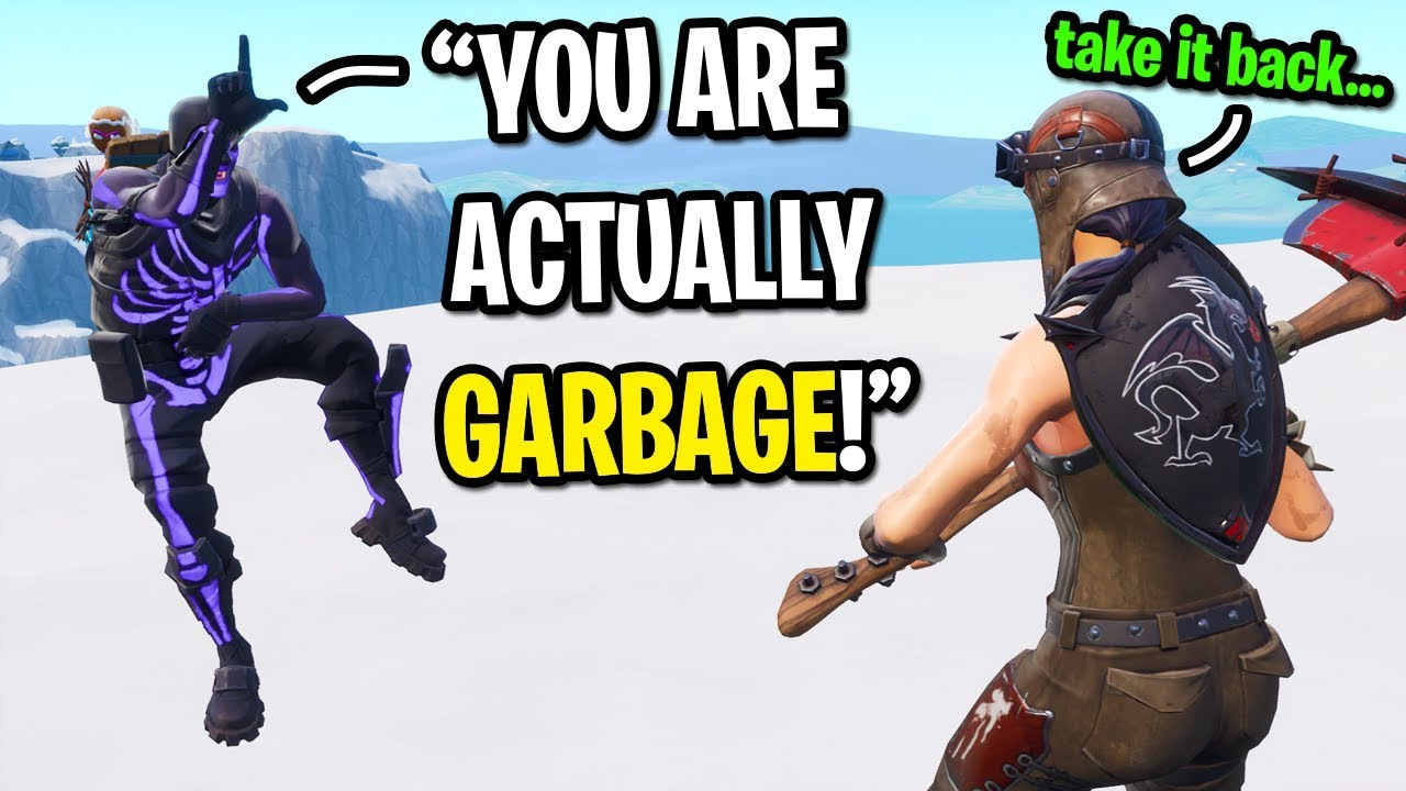 Purple Skull Trooper Trash Talks Me Until This Happens In Fortnite