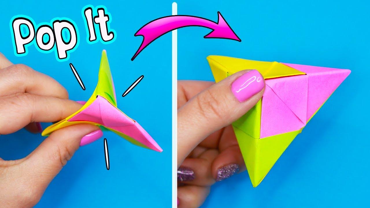 Оригами Pop It ИЗ БУМАГИ своими руками!  Антистресс игрушка  БЕЗ КЛЕЯ