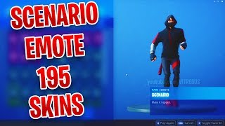 FORTNITE SCENARIO EMOTE - 195 SKINS