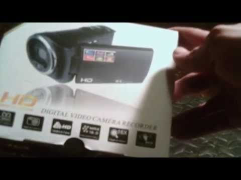 HD high definition digital video camera (unboxing)