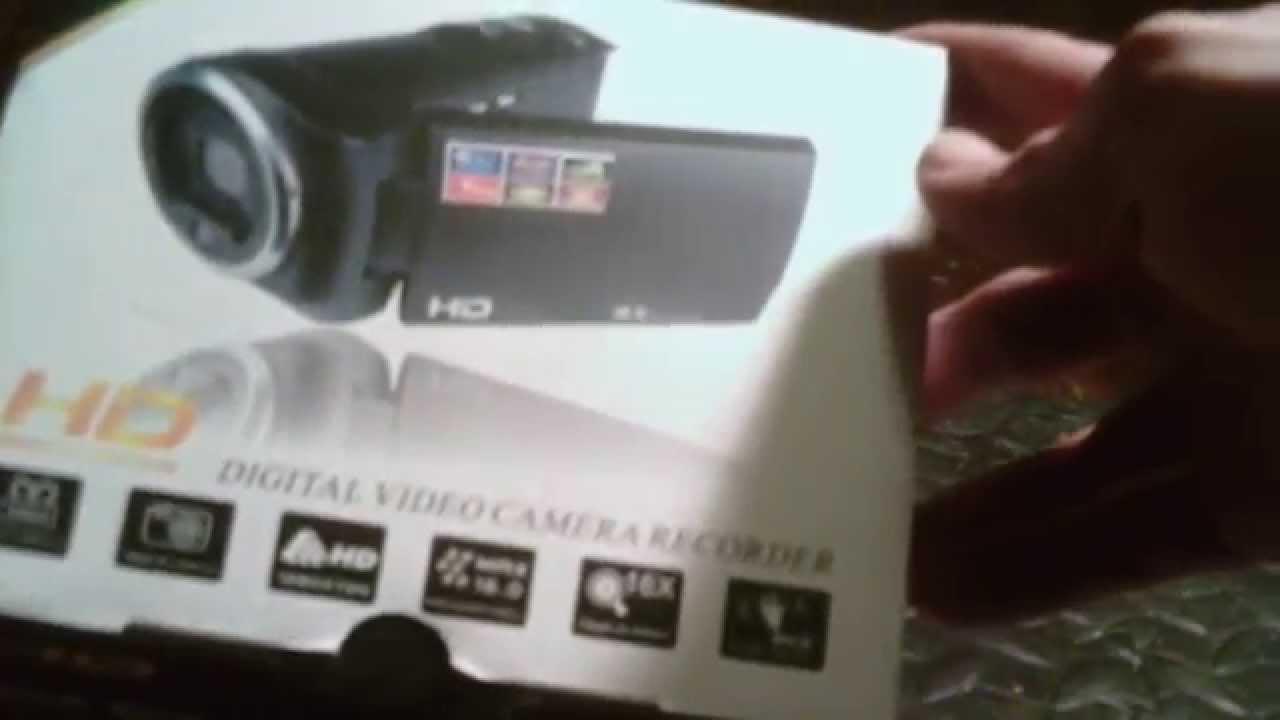 hd high definition digital video camera unboxing youtube. Black Bedroom Furniture Sets. Home Design Ideas