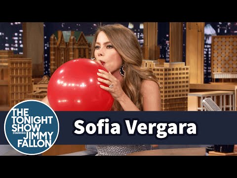 Видео, Sofia Vergara Chats with Jimmy While Sucking Helium