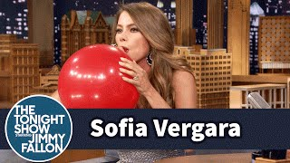 Sofia Vergara Chats with Jimmy While Sucking Helium | The Tonight Show Starring Jimmy Fallon