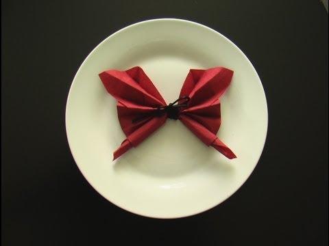 pliage-serviette-papier-en-papillon!-origami
