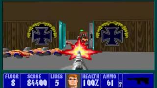Wolfenstein 3D - Episode 2 Floor 8 Aardwolf Maze 100% Unofficial