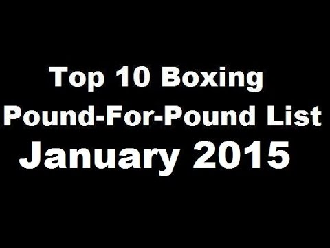 Top 10 Pound-For-Pound Boxing Rankings – January 2015