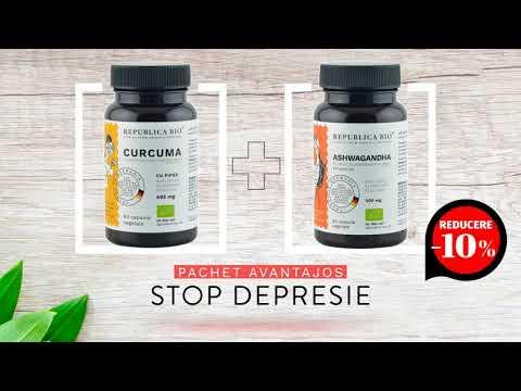 STOP DEPRESIE, pachet promotional (Curcuma + Ashwagandha), BIO, RAW, VEGAN