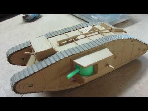 Радиоуправляемая модель танка МАРК4 в 35 масштабе