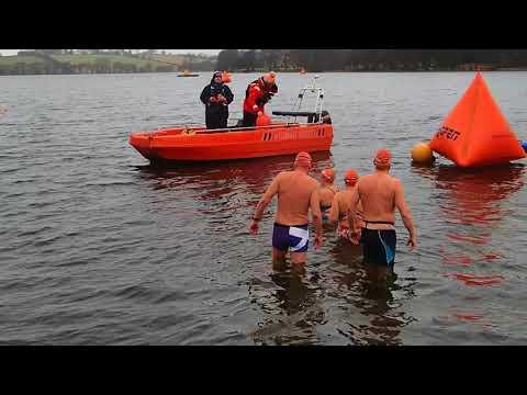 Start of swim Scotland Ice Mile 2018