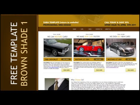 Web Design Templates: Brown Shade Version 01 Free Website Template