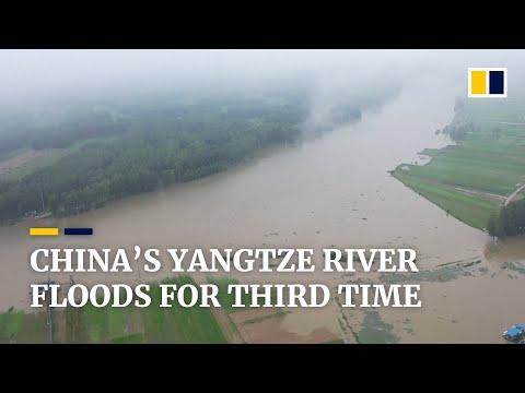 Third flood of monsoon season for Yangtze River piles pressure on China's Three Gorges Dam
