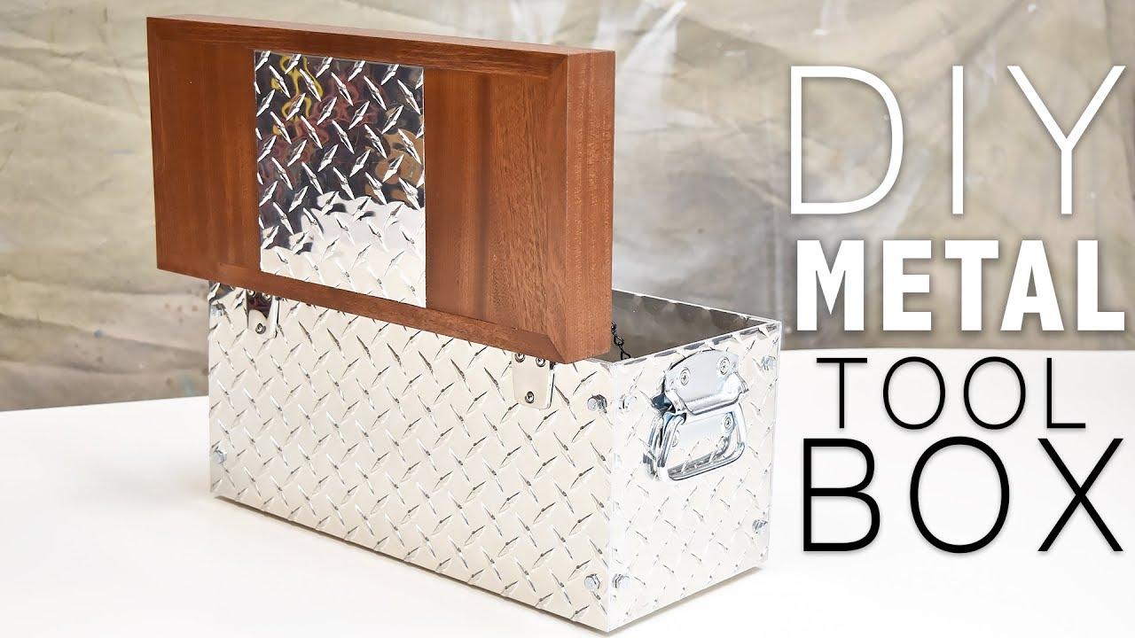 easy diy tool box (metal and wood) | diy creators