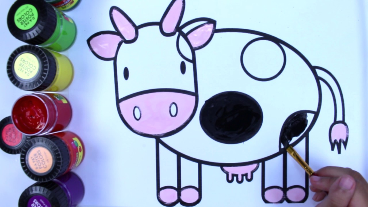 coloring pages for kids barbie cow coloring page youtube