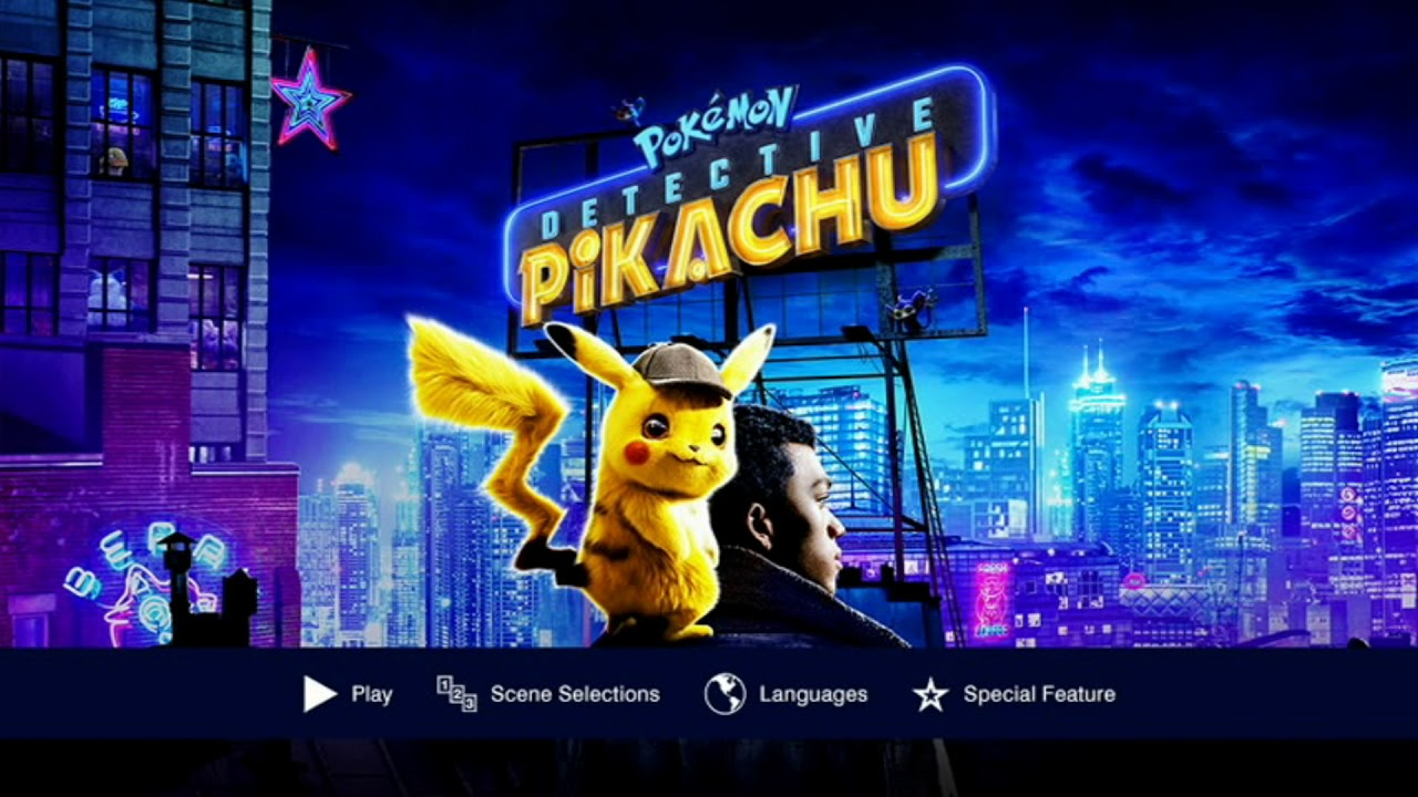 Pokemon Detective Pikachu 2019 Dvd Menu Youtube