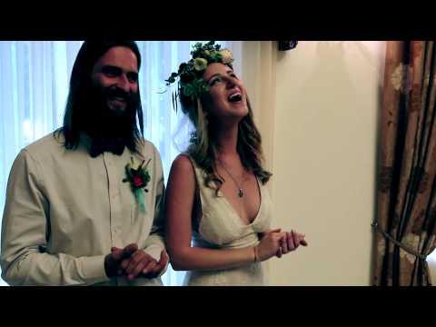 Бракосочетание Володарских во дворце бракосочетания на ВВЦ