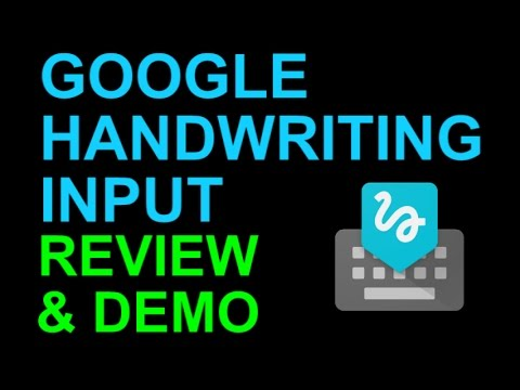 google handwriting input keyboard android app review and demo youtube. Black Bedroom Furniture Sets. Home Design Ideas
