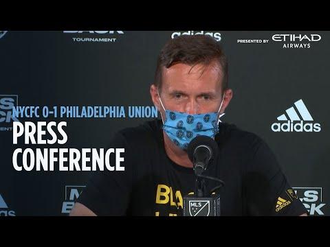 NYCFC vs. Philadelphia Union | 07.09.20 | PRESS CONFERENCE