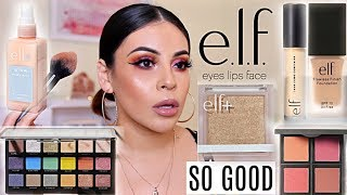 NEW e.l.f. MAKEUP 2019! FIRST IMPRESSIONS + WEAR TEST! ONE BRAND TUTORIAL | JuicyJas