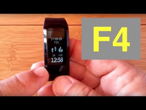 No.1 F4 Waterproof Fitness Smartband: Unboxing & Review
