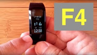 No.1 F4 Waterproof Fitness Smartband: Unboxing & Review Mp3