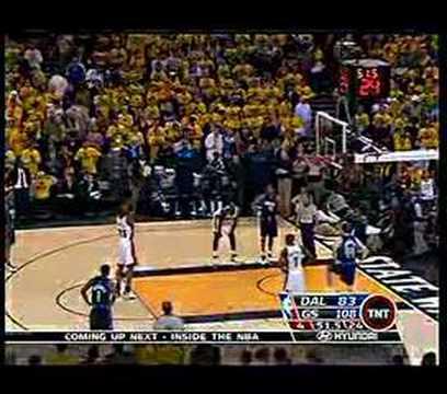 Closing moment of Warriors - Mavericks Game 6 2007 playoffs