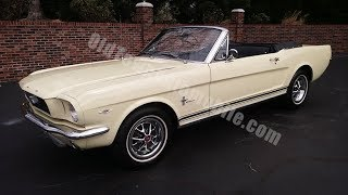 1966 Ford Mustang Convertible for sale Old Town Automobile in Maryland