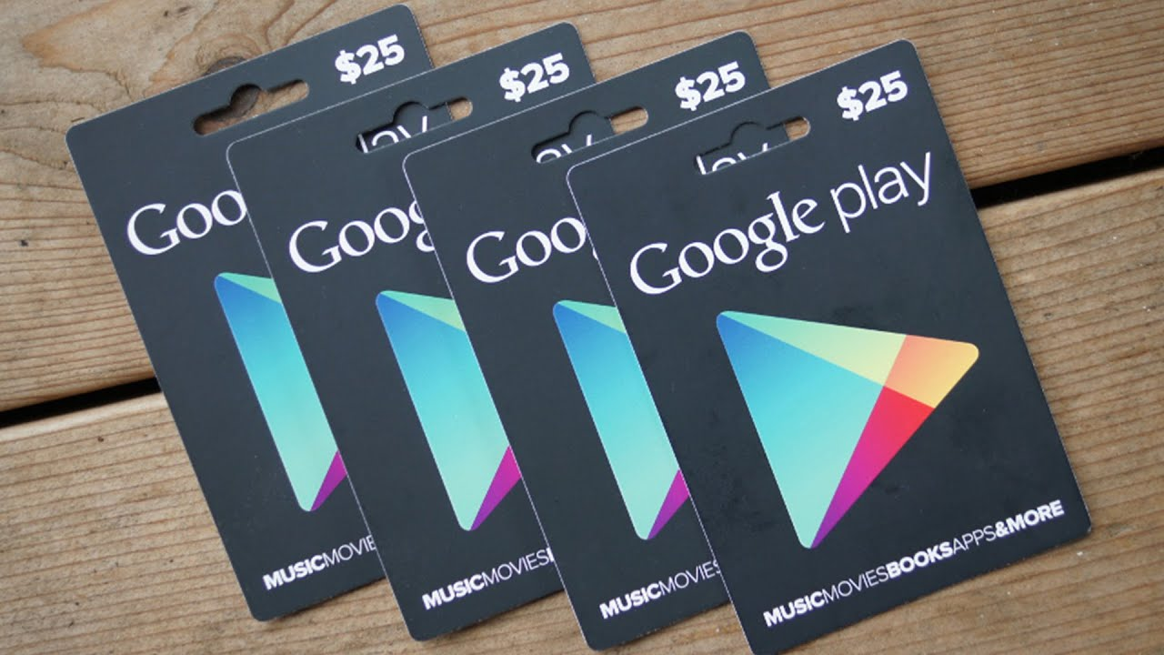 Free Google Play Gift Cards