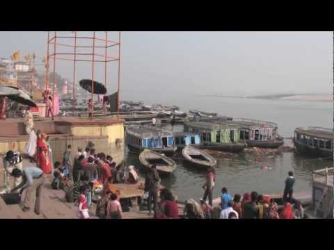 Ganga(Ganges River), Varanasi India Travels Scrapbook and Video