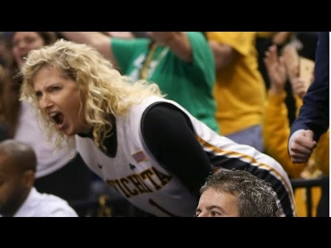 Wichita State Coach's Wife Going Crazy - REACTION